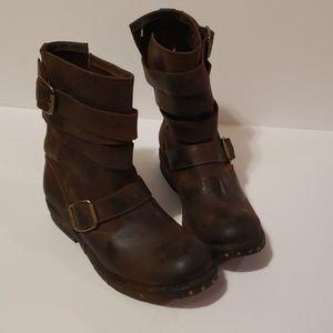 JEFFREY CAMPBELL Brit Wrap Moto Boots size 7